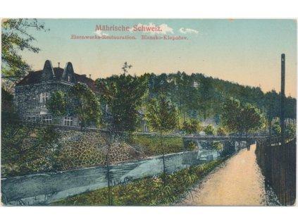 03 - Blansko - Klepačov, Eisenwerks - Restauration, cca 1921