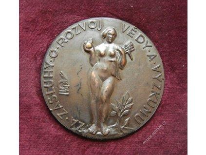 ČSSR, AE medaile Za zásluhy čs.akademie věd, etue