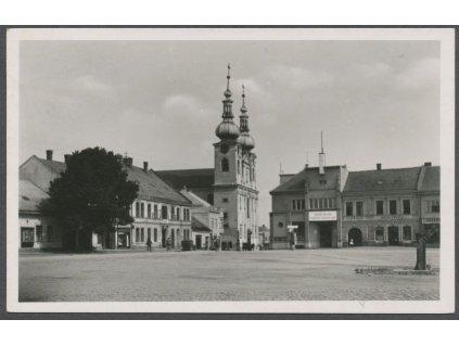 41 - Olomoucko, Kojetín, Kostel Nanebevzetí Panny Marie, grafo Čuda, cca 1930