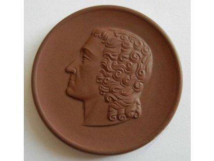 DDR, biskvitová medaile pozdrav z Míšně (Meissen)