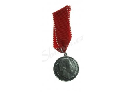 Bavorsko, Ludvík II., pamětní medaile na stuze, stav 1/1