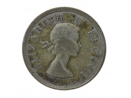 South Afrika, mince 2 1/2 Sch., 1954, stav 2/2