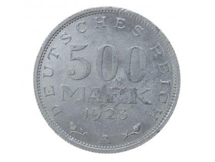 Německo, mince 500 Mark, 1923 A,  stav 1/1