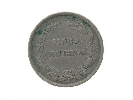 Ekvádor, mince 10 C, 1918, stav 2/2