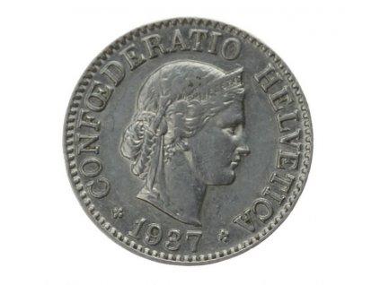 Švýcarsko, mince 10 Rp., 1937, stav 0/0