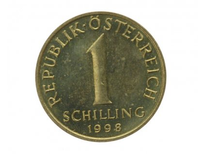 Rakousko, mince 1 Sch., 1998, RL