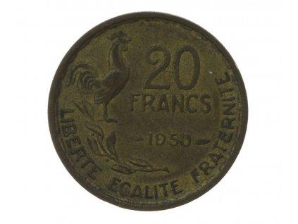 Francie, 20 Fr., 1950, stav 1/1