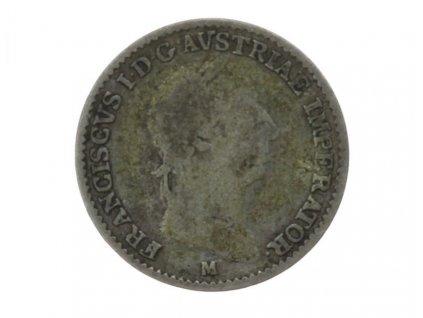 František I., minc 1 Lira, 1823 M, stav 2/2
