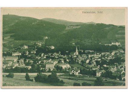 21 - Jeseník, Freiwaldau, celkový pohled, cca 1919