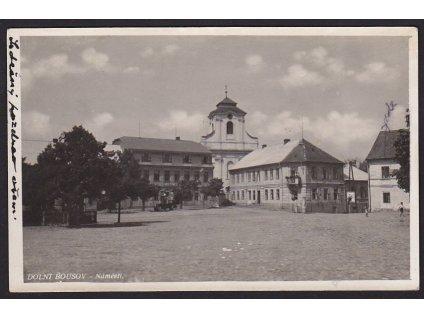 36 - Mladoboleslavsko, Dolní Bousov, náměstí, cca 1925