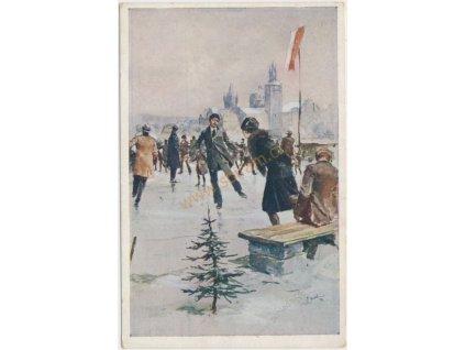 Vánoční přání, cca 1929