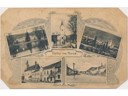 41- Olomoucko, Čechy na Hané, 5-ti záběrová koláž dominant, cca 1923