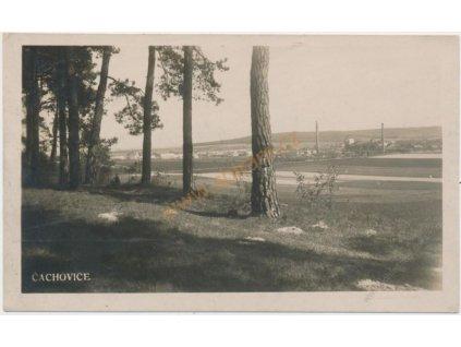 36 - Mladoboleslavsko, Čachovice, celkový pohled, cca 1934