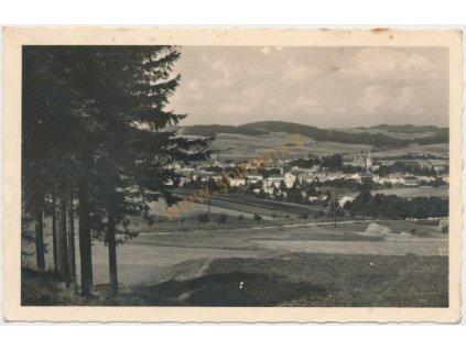 75 - Žďársko, Nové Město na Moravě, celkový pohled, cca 1930
