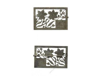 Čechy (Aš), Sokol, stejnokrojová přezka s monogramem AŠ, okolo roku 1900, ojedinělé,  stav 1