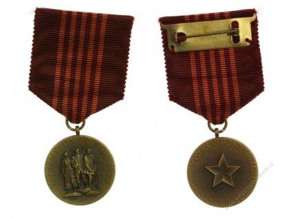 ČSSR, AE medaile Vítězný únor, 1973, stuha, zavírací jehla