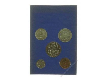 Belgie, 2ks sad oběžných mincí v platovém obalu, po 10 Fr.,1974