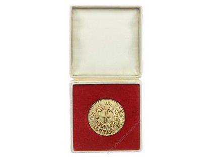 ČSSR, Severočeské uhelné sklady, AE medaile 40.let,zlatý stupeň, 1988