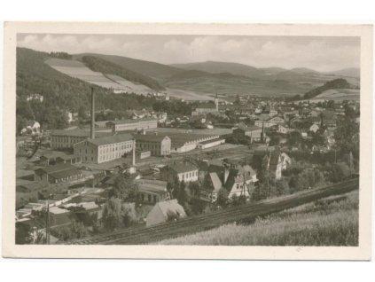 21 - Jeseník, celkový pohled na město, Fototypia Vyškov, cca 1935