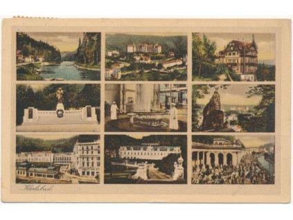 25 - Karlovy Vary, 9 - ti záběr dominant města, cca 1932