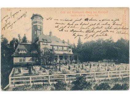 25 - Karlovy Vary, Café und Restaurant Aberg, cca 1910