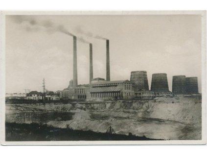 37 - Mostecko, Ervěníce , Elektrárna, cca 1924...