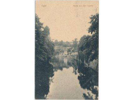 08 - Cheb, partie aus dem Egertal, řeka Ohře, cca 1914