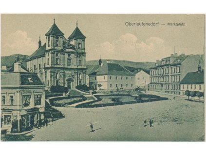 37 - Mostecko, Litvínov, oživené náměstí, cca 1910