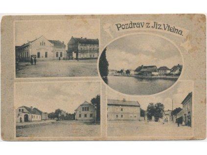 36 - Mladoboleslavsko, Jizerní Vtelno, 4 - záběr obce, cca 1918