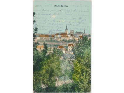 36 - Mladá Boleslav, pohled na město, nákl. H. Kaufmann, cca 1908