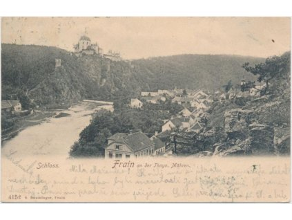 74 - Znojemsko, Vranov nad Dyjí, partie pod zámkem, cca 1900