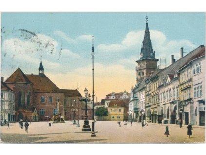 09 - Chomutov, oživené náměstí, cca 1912