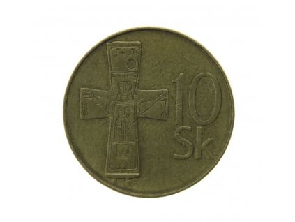 Slovensko, mince  10 K, 1993, stav 1/1