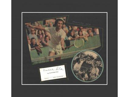 Pála František (1944), tenista, sběratelský list cca A4 s podpisem