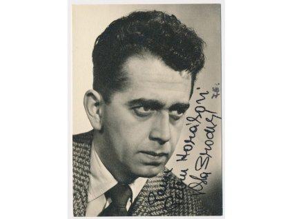 Brodský Vlastimil (1920-2002), herec, portrétová  fotografie s věnováním