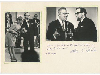 Vostřel Darek (1929-1992), herec, zpěvák, sběratelská karta  Zlatého slavika 1966