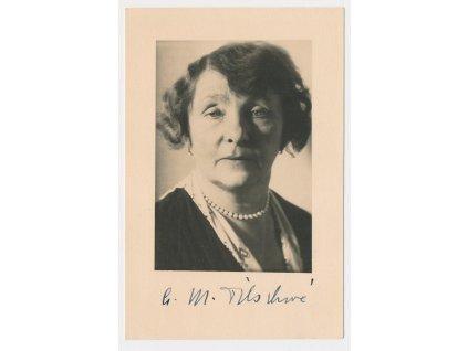 Tilschová Anna Maria (1873-1957), česká spisovatelka, pohl. s podpisem