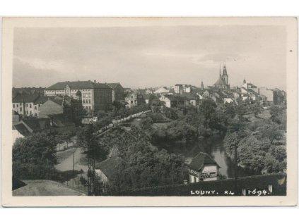 34 - Louny, pohled na město, cca 1937