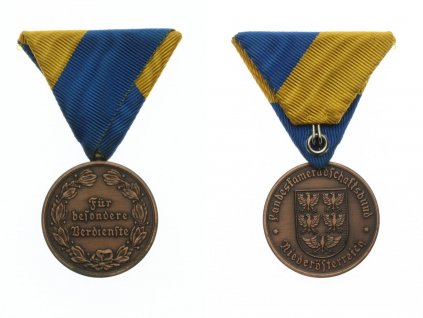Rakousko, Medaile Zemského spolku Za zvláštní zásluhy, stuha