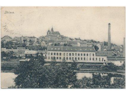 23 - Jihlava, pohled na město cca 1917