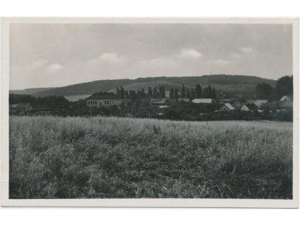 36 - Mladoboleslavsko, Domousnice, pohled na obec, Grafo Čuda cca 1942