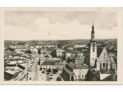 52 - Prostějov, celkový pohled na město, cca 1950