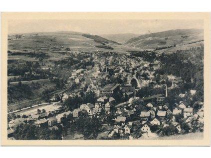 59 - Sokolovsko, Kraslice, celkový pohled na město, cca 1940