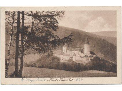 55 - Rakovnicko, pohled na hrad Křivoklát, cca 1924
