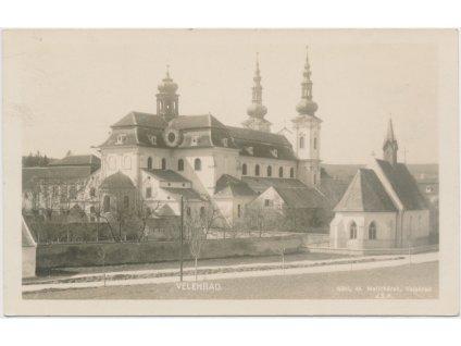 68 - Uherskohradišťsko, Velehrad, pohled na baziliku, nákl. M. Melichárek