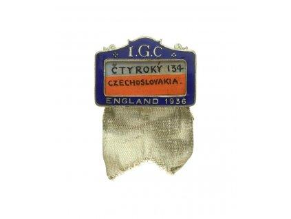 LOH Londýn, účastnický odznak - basketbal - Čtyřoký, smalty,ojedinělé
