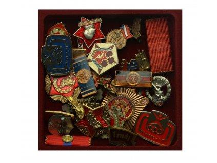Sport, sestava 21 ks sportovních medailí a odznaků, pestré,pěkné stavy