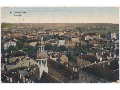12 - České Budějovice, celkový pohled na město, cca 1924