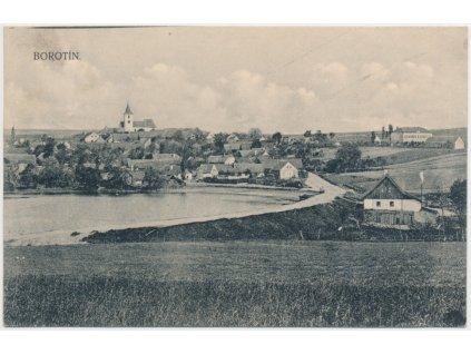 64 - Táborsko, Borotín, celkový pohled, cca 1917