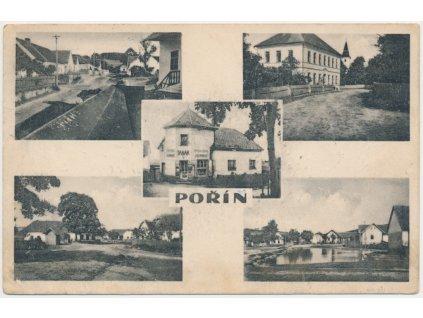 64 - Táborsko, Pořín, 5 - ti záběr dominant vesnice, cca 1911